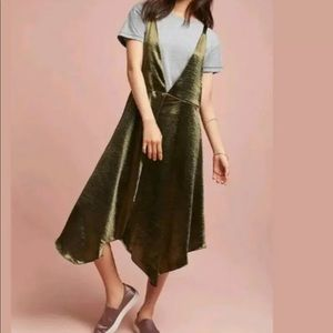 MAEVE Anthropologie women's dress olive green M